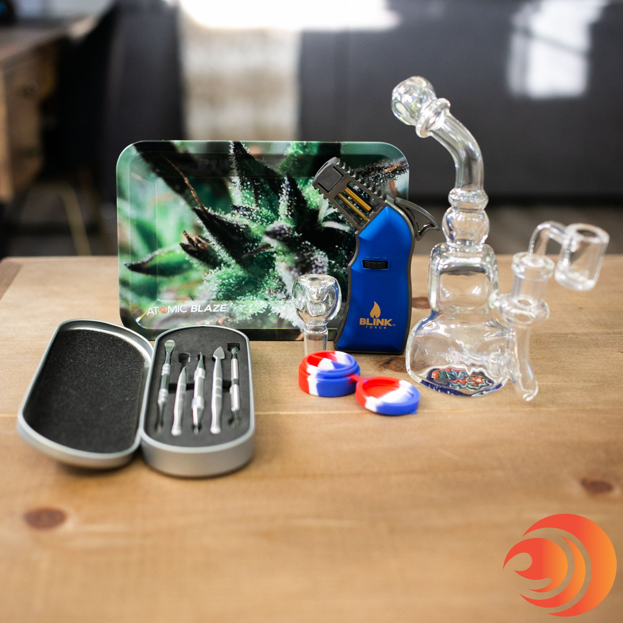Buy a dab rig bundle from the Atomic Blaze head shop.